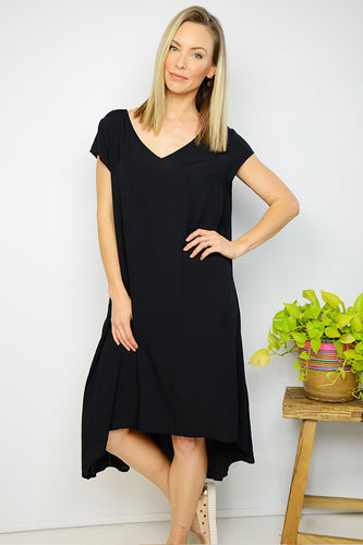 Black Swing Midi Dress
