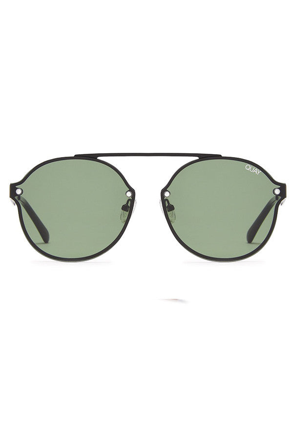 Quay Australia Camden Heights Black & Green Sunglasses