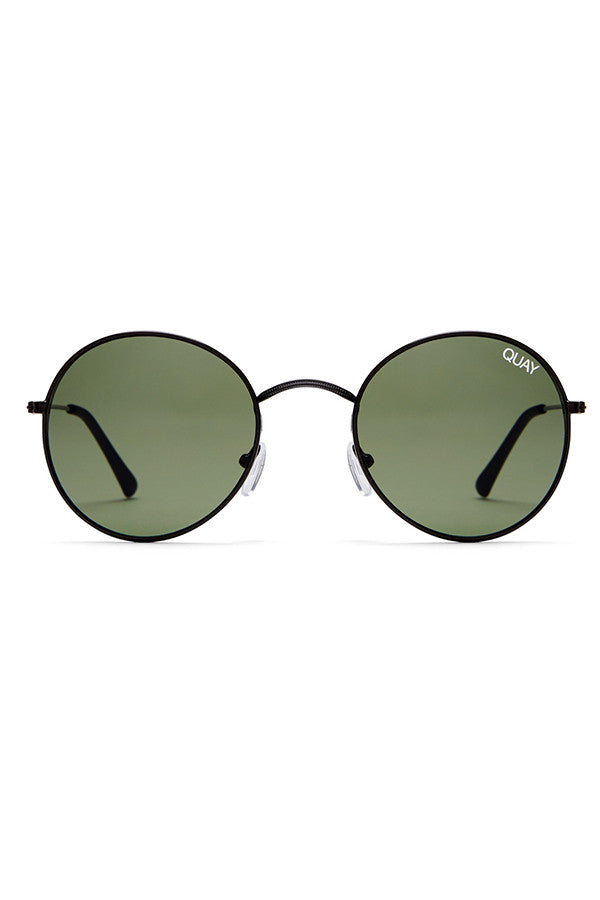 Quay Australia Mod Star Black & Green Sunglasses