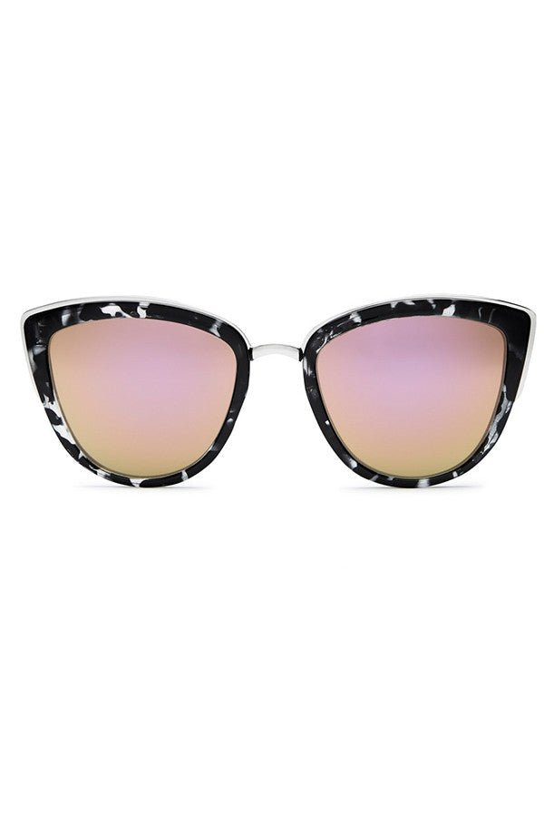 Quay Australia My Girl Black Tort & Pink Sunglasses