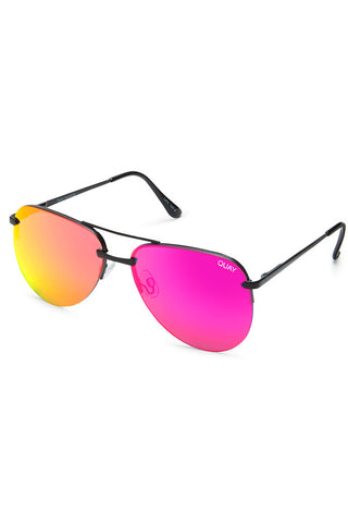 Quay Australia The Playa Black & Pink Sunglasses