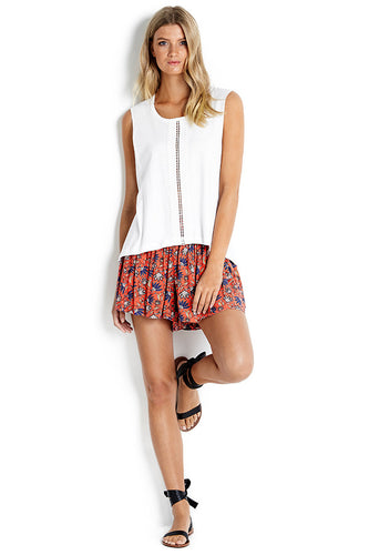 Seafolly White Lace Insert Tank