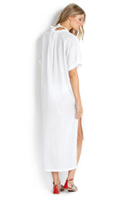 Seafolly White Textured Voile Shirt Dress