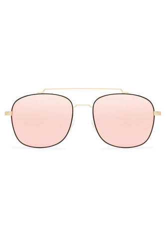 Quay Australia To Be Seen Gold & Pink Sunglasses