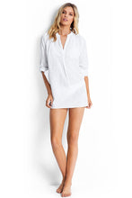 Seafolly White Boyfriend Beach Shirt