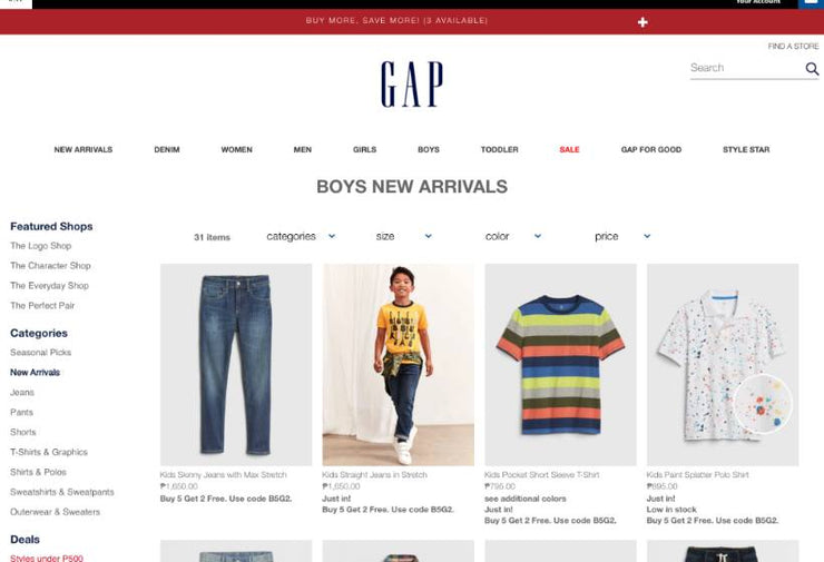 Gap Showcase