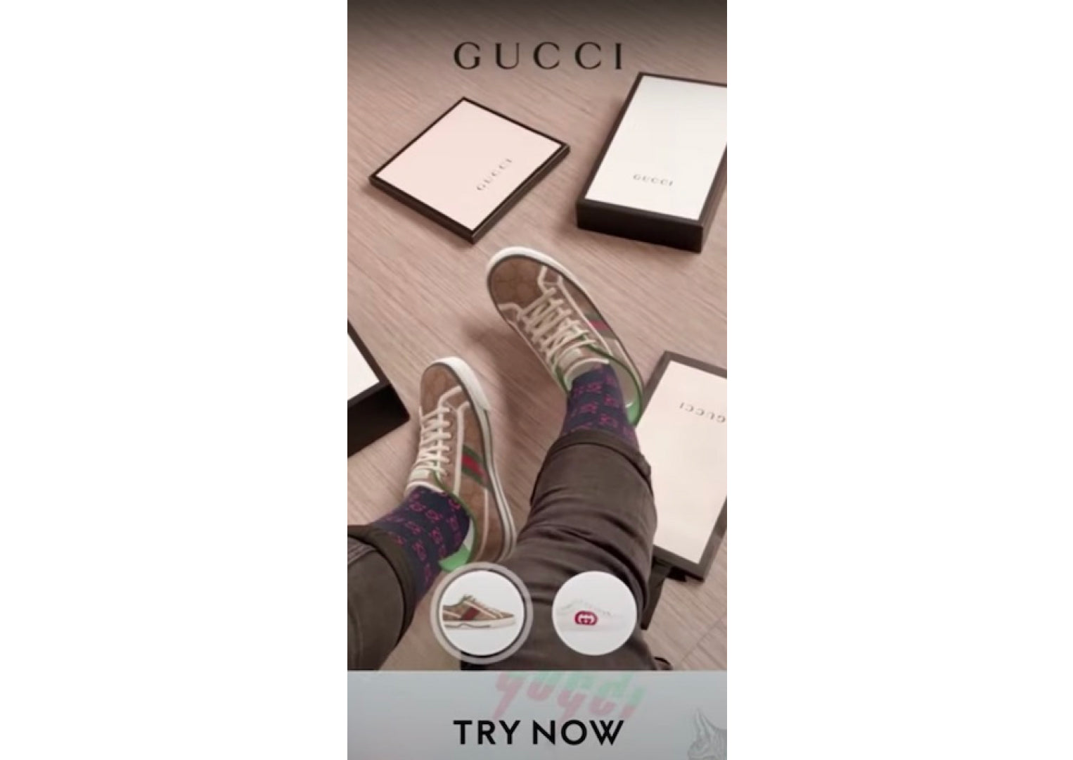gucci snapchat filter for social commerce