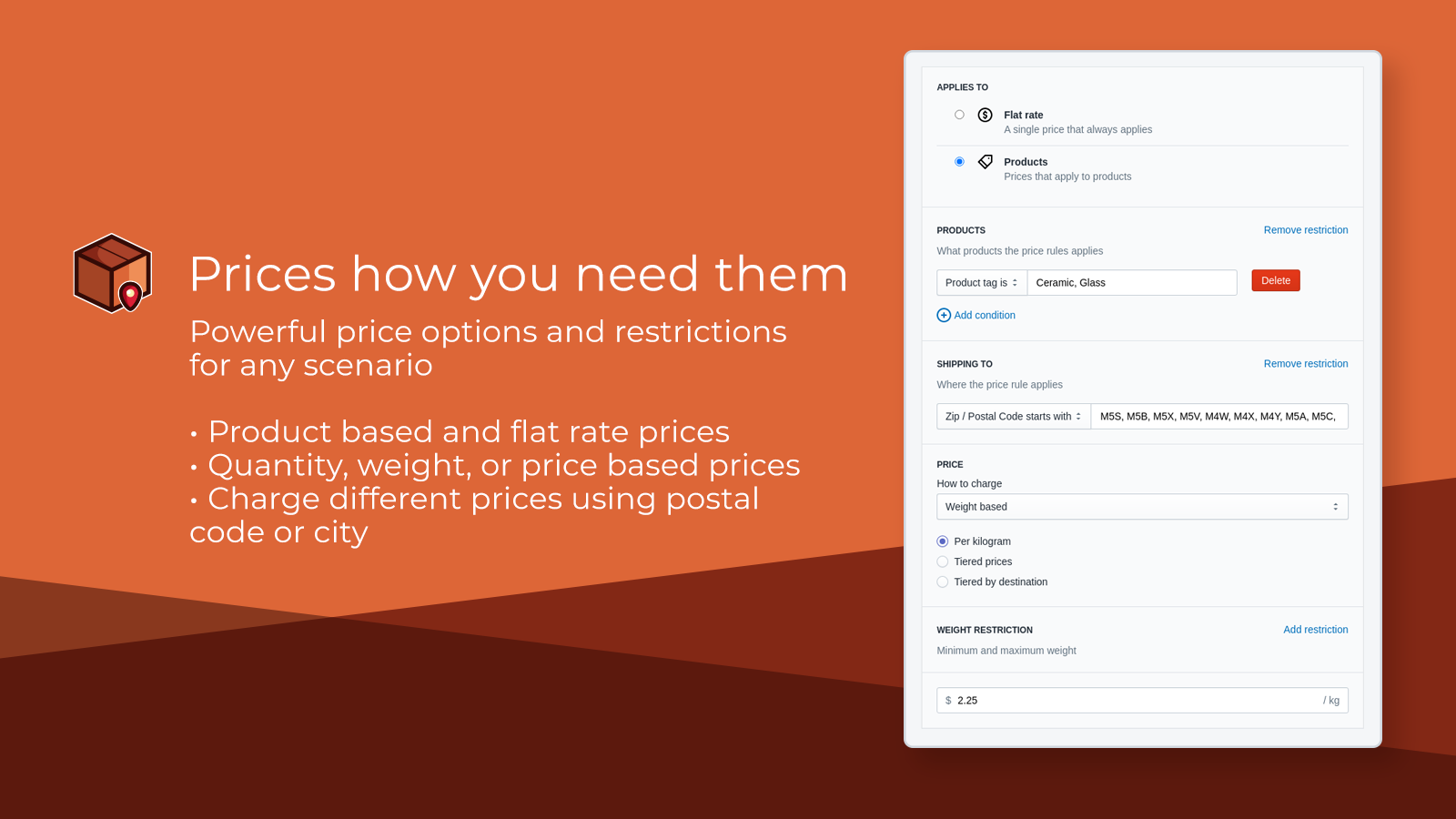 Shipping Rates by Parcelify bfcm 2021