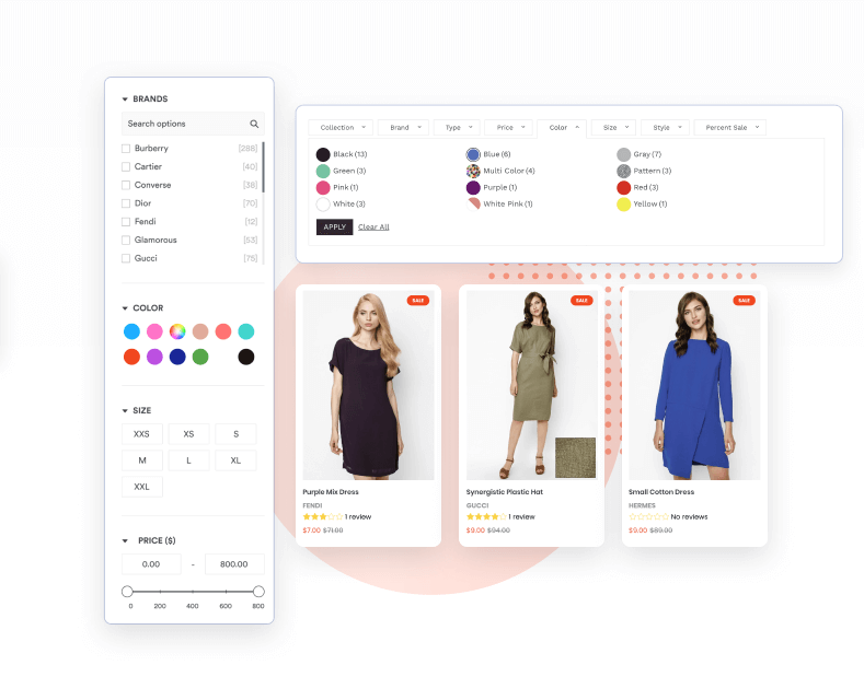 Shopify Product Filter layout