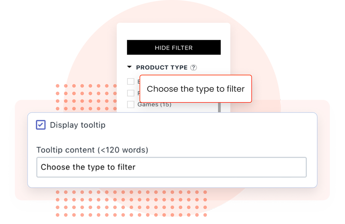 Tooltips for filter options