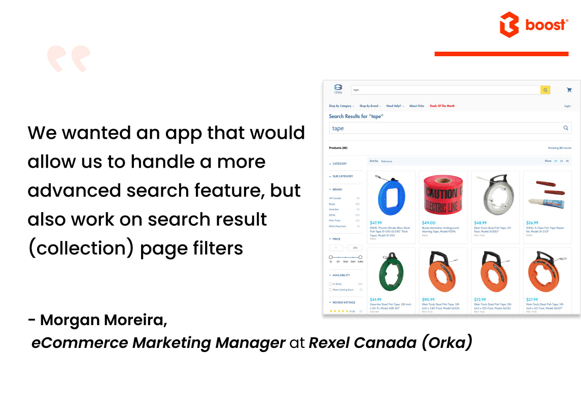Shopify collection filters on Orka | Boost product filter search case study