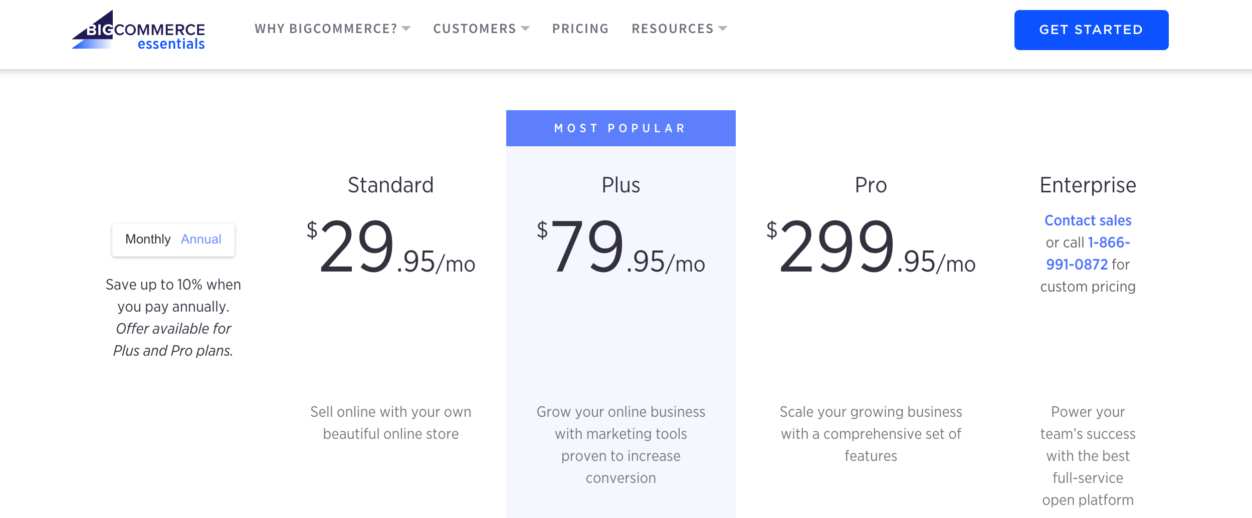 bigcommerce pricing for smb ecommerce