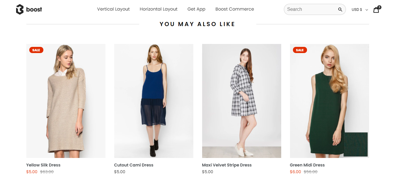 boost commerce product recommendations ecommerce features