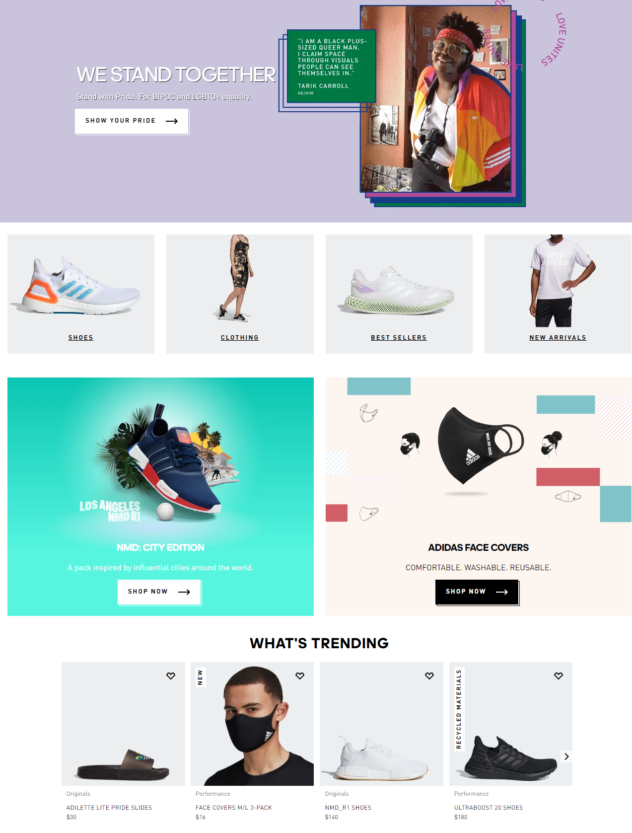 featured product example adidas merchandising hacks