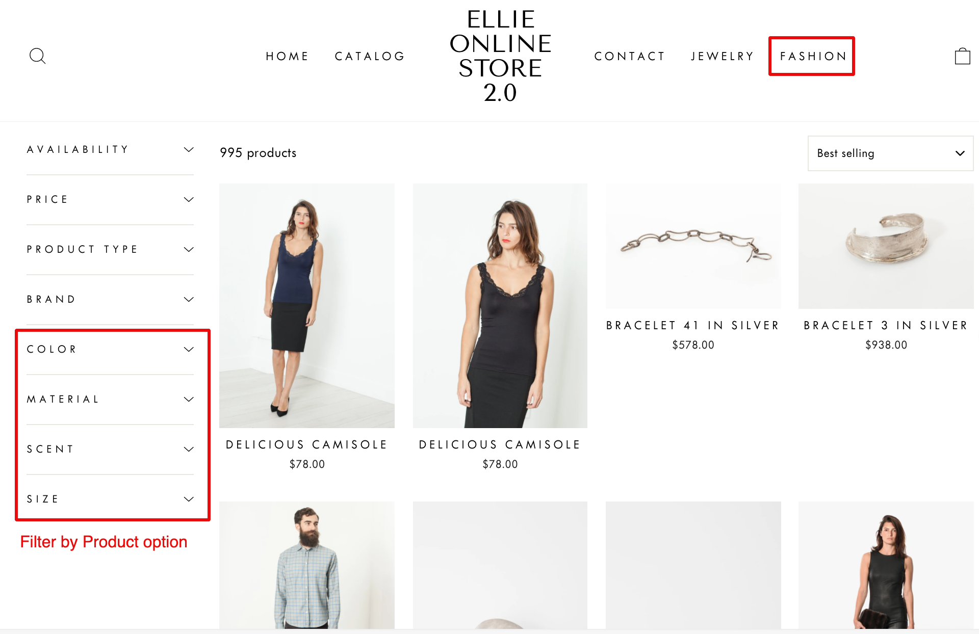 fixed filter trees on shopify storefront filtering