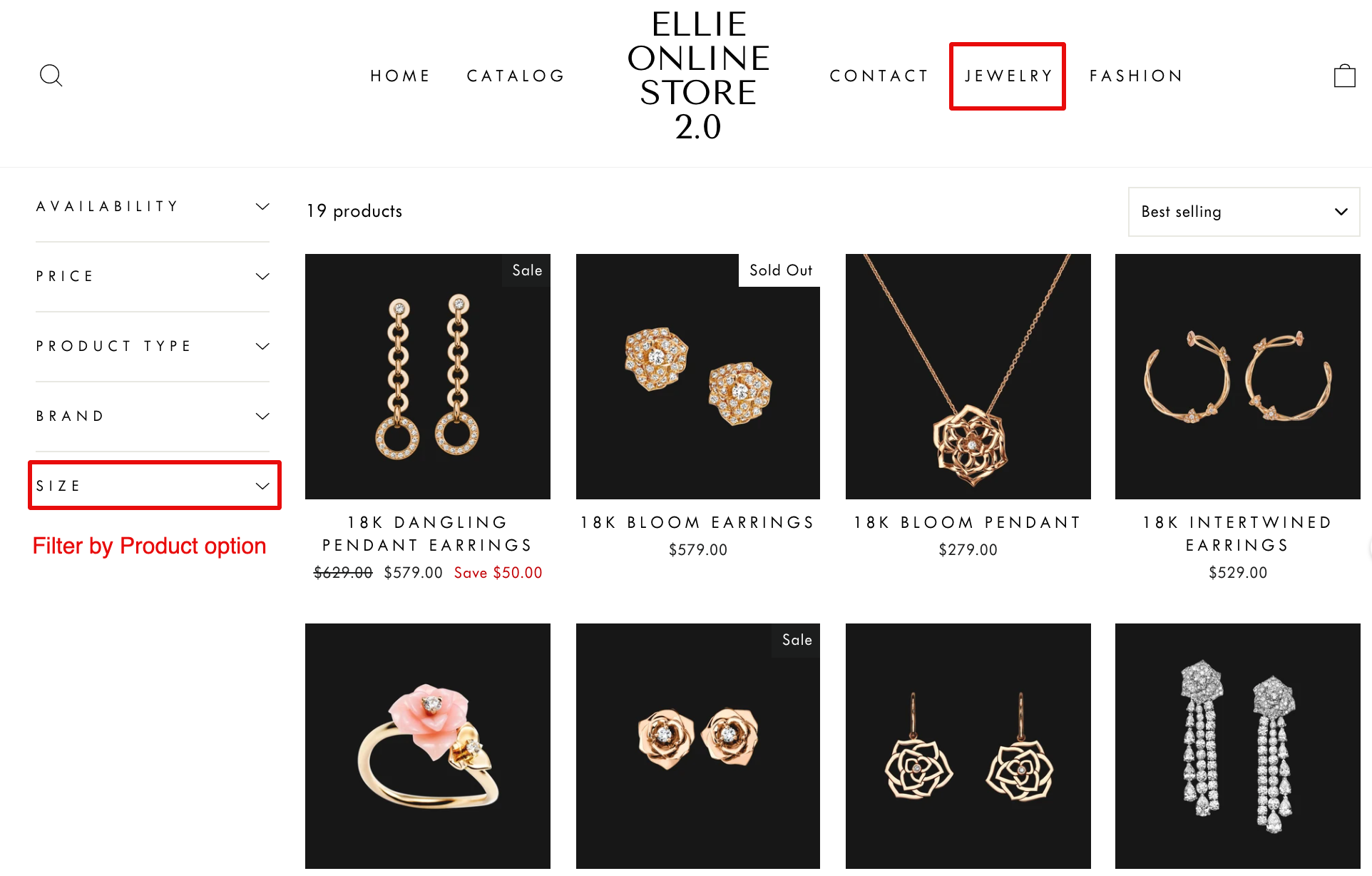 fixed filter trees in shopify storefront filtering