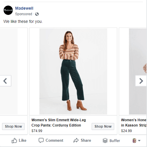 holiday tip remarketing madewell tip boost commerce