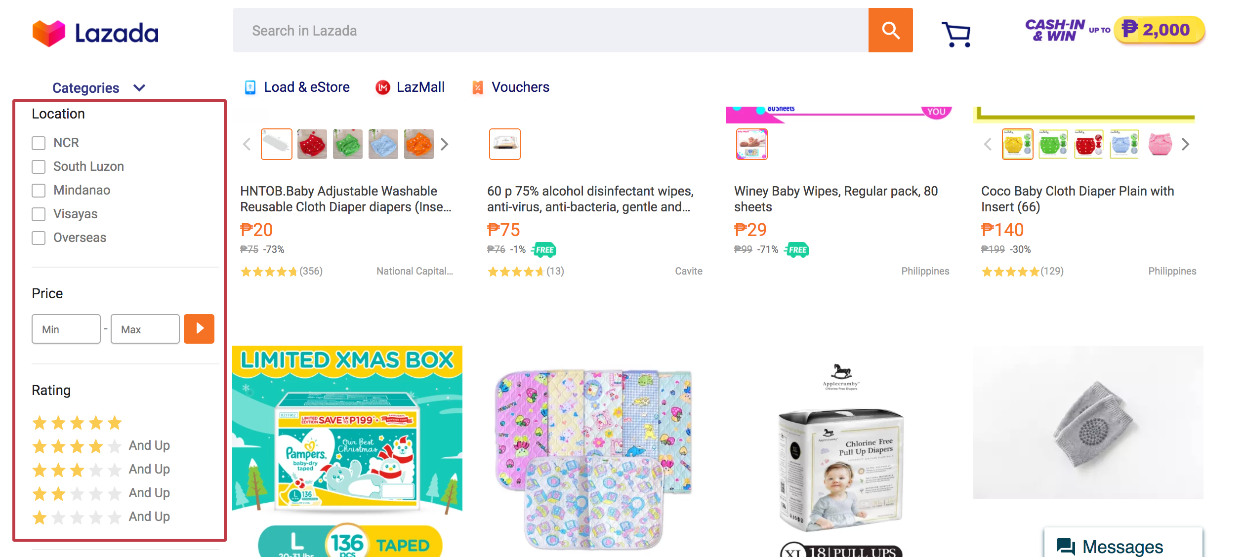 lazada ui ux filter design boost commerce