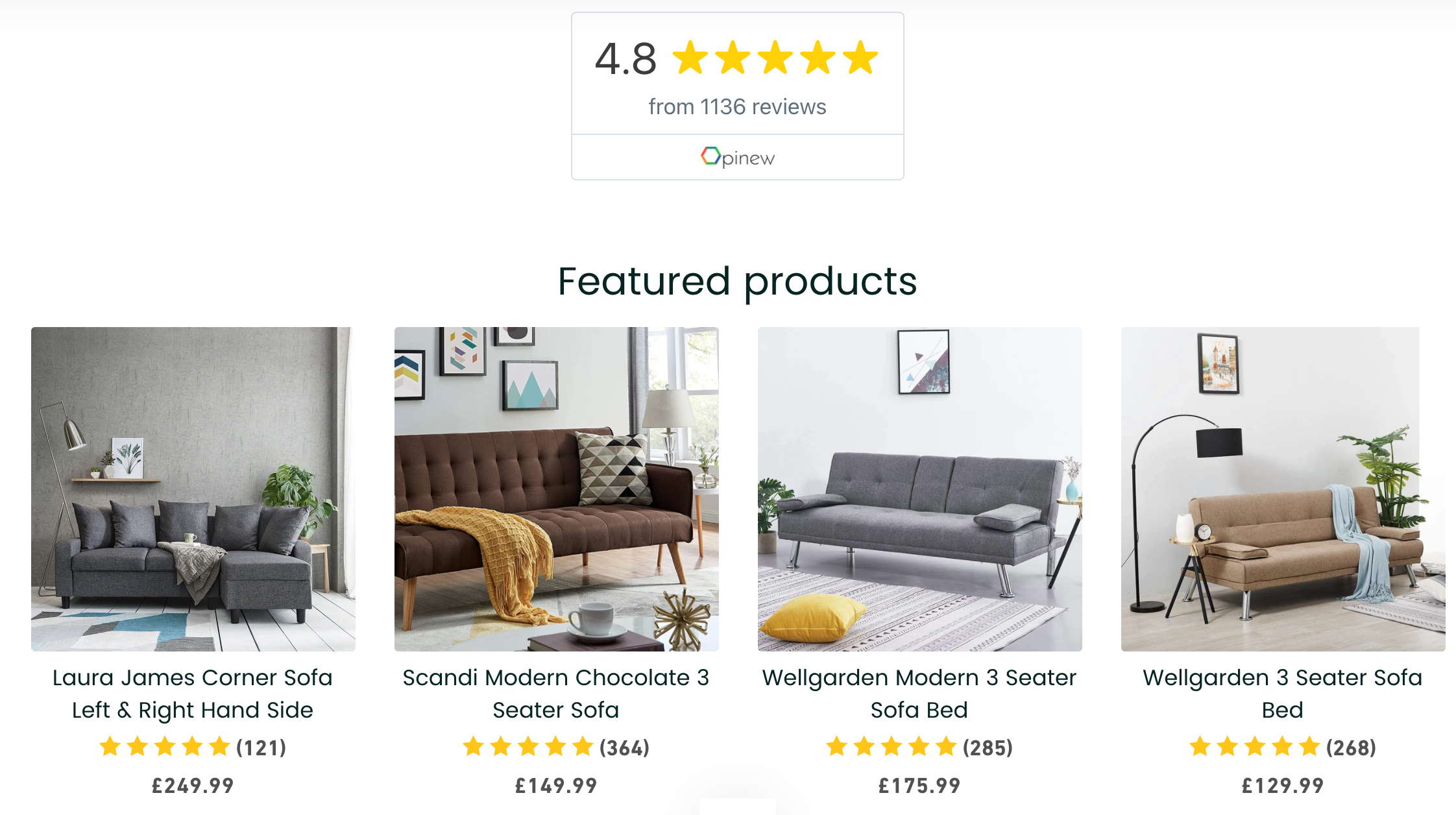 Opinew star ratings shopify product review app