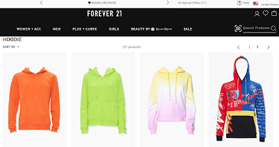 personalized search results forever21 after