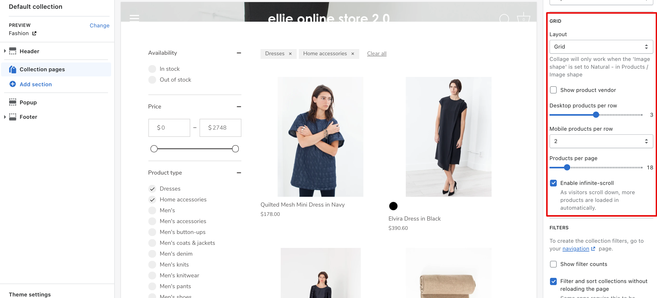 pagination on shopify storefront filtering