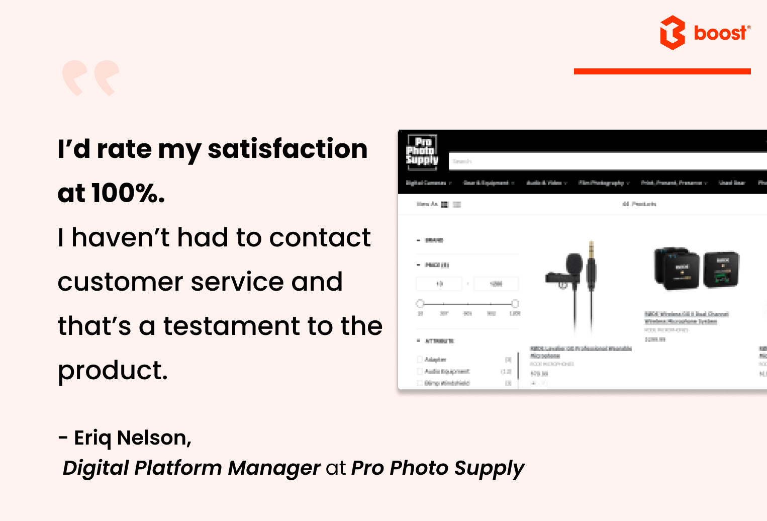 pro photo supply case study | boost product filter search