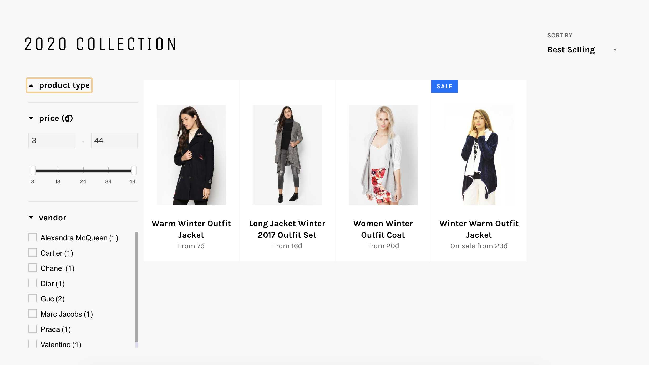 product visibility collection page after