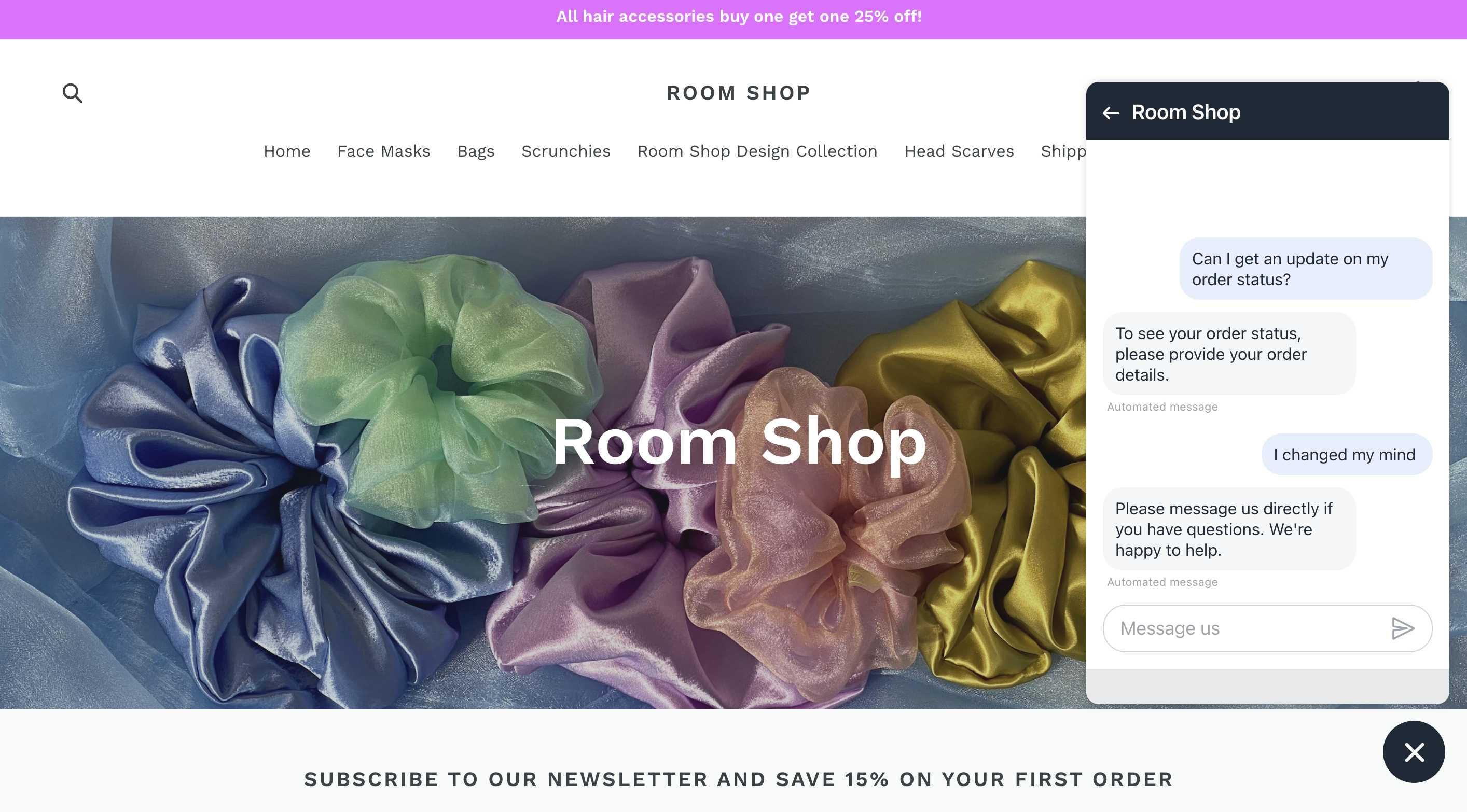 room shop used shopify inbox website conversion rate