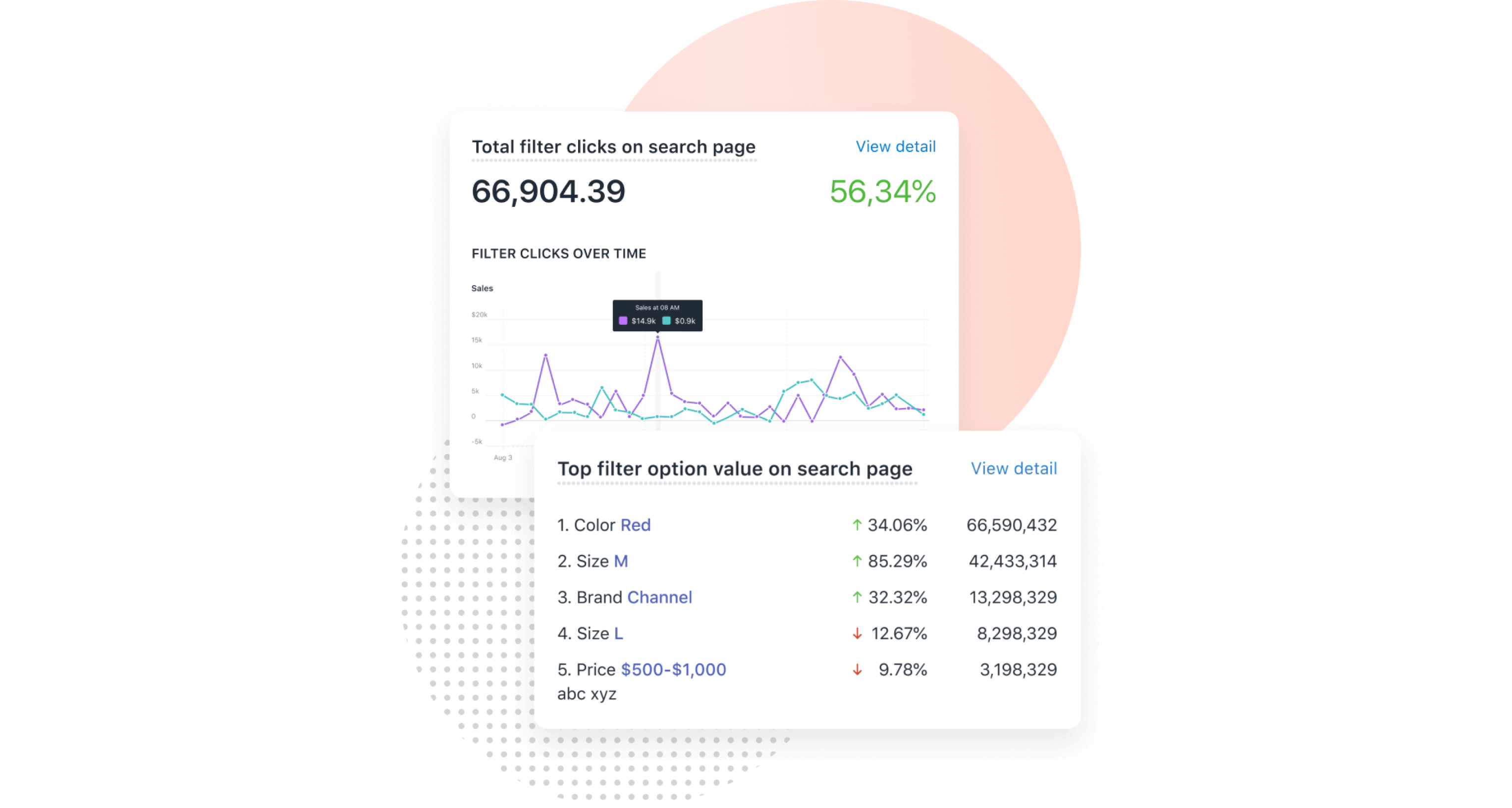 search analytics boost product filter search