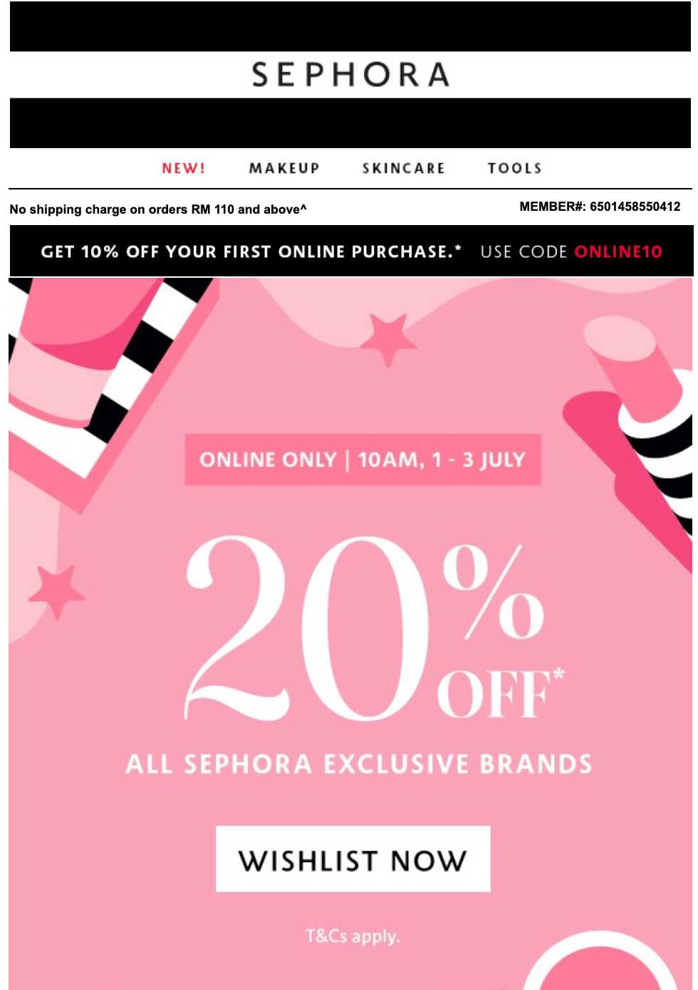 sephora malaysia limited offer website conversion rate
