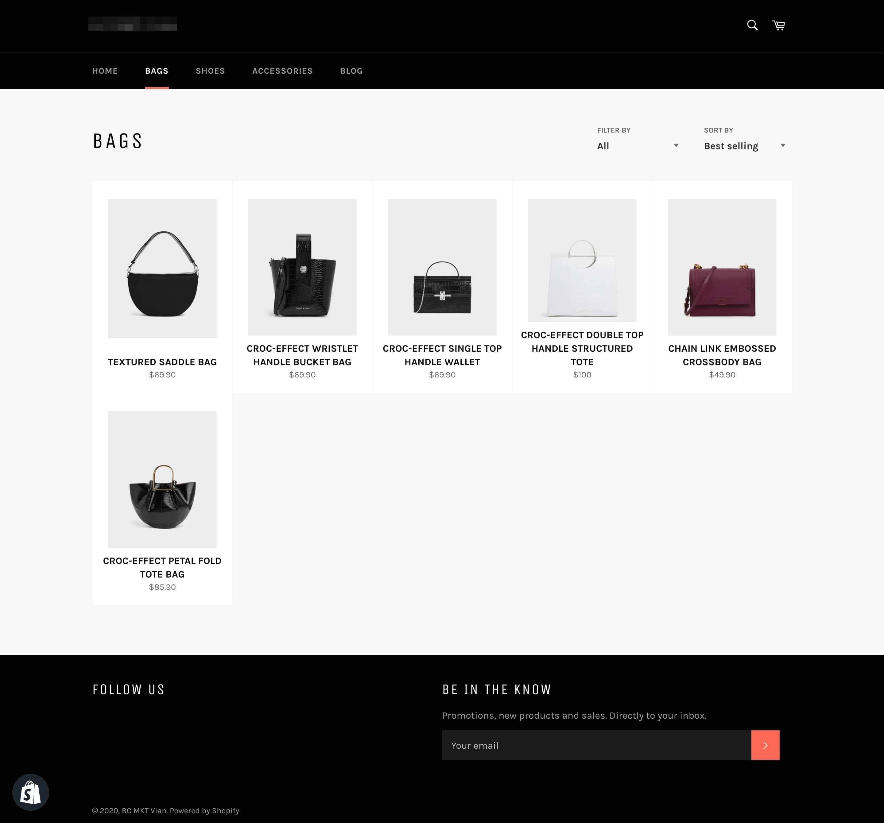 shopify collection live view definition