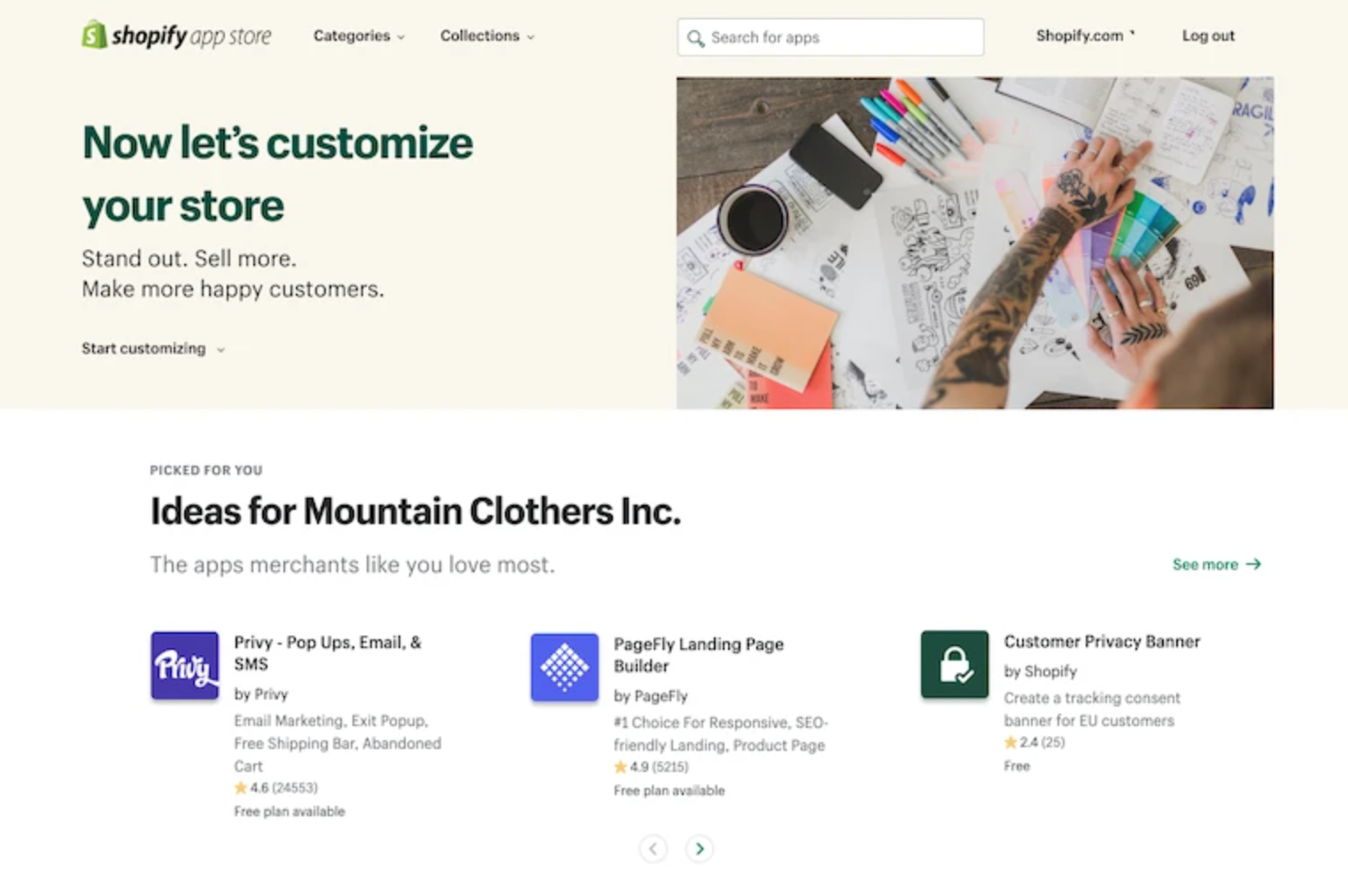 New personalized app store shopify unite 2021