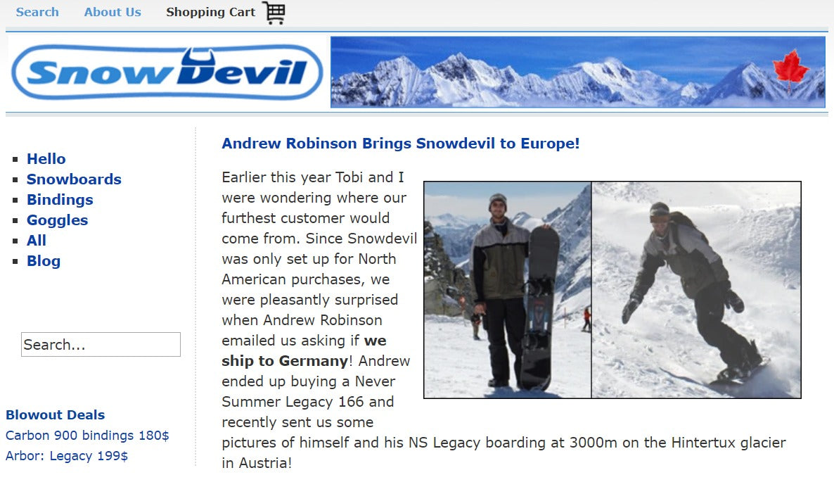 snowdevil the beginning of shopify success story