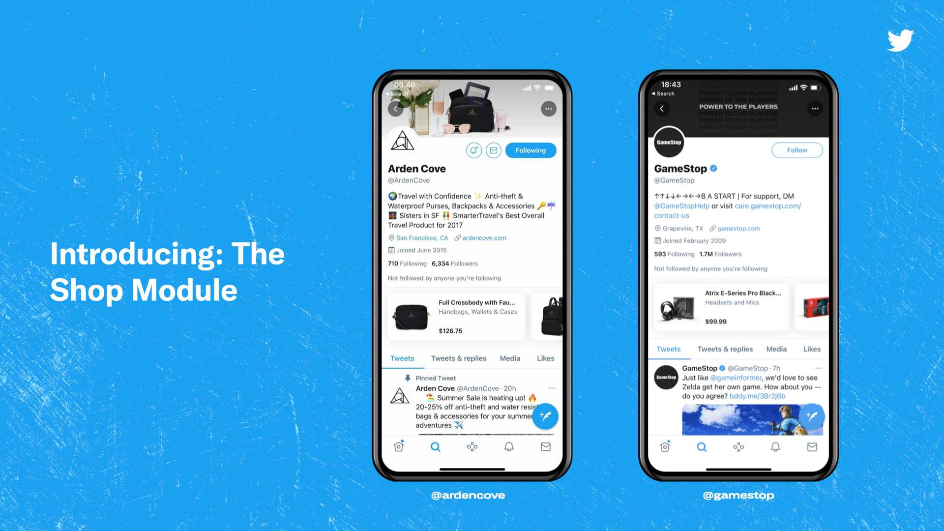 soical commerce twitter the shop module