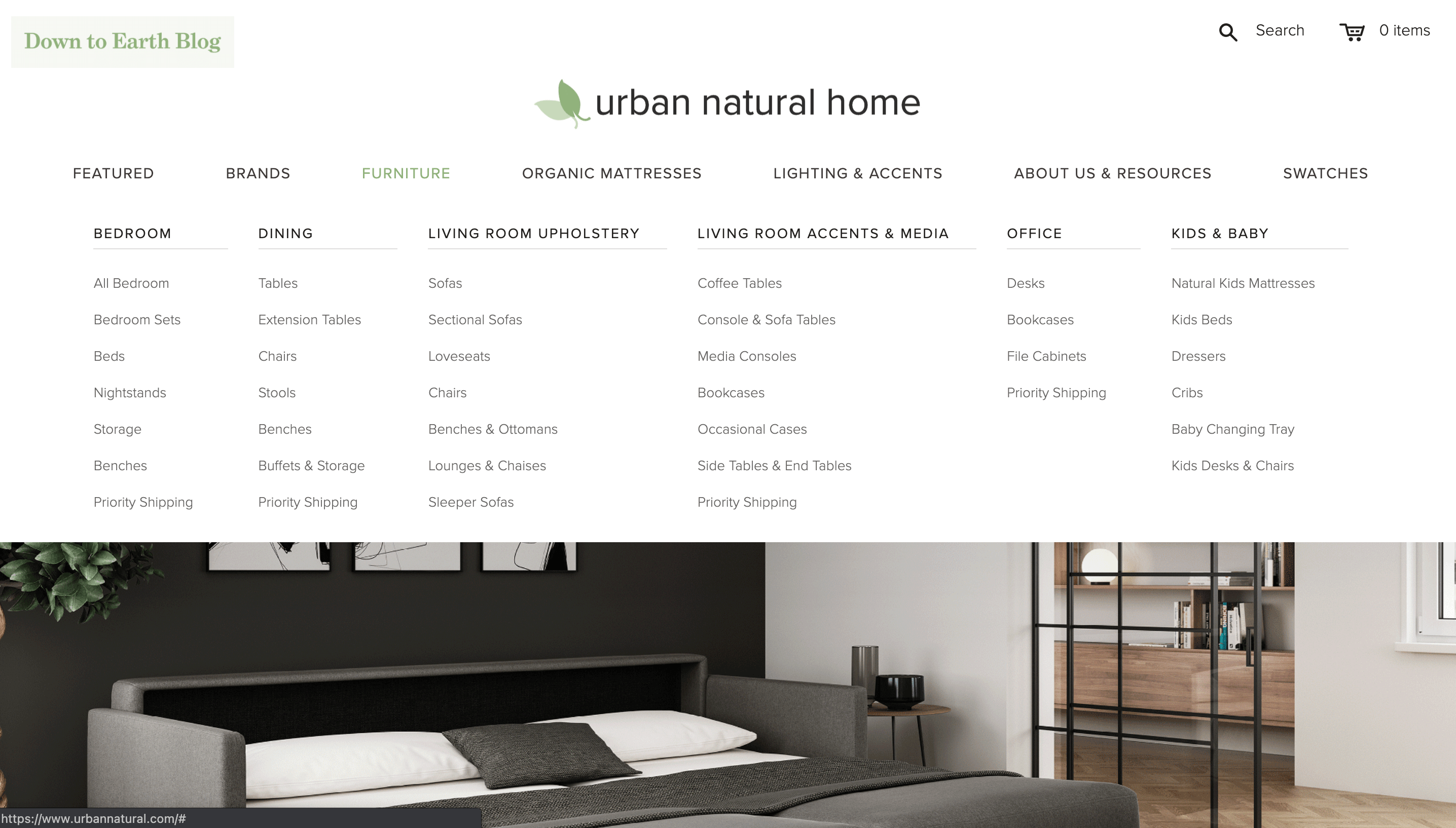 urban natural home homepage traffic but no sales