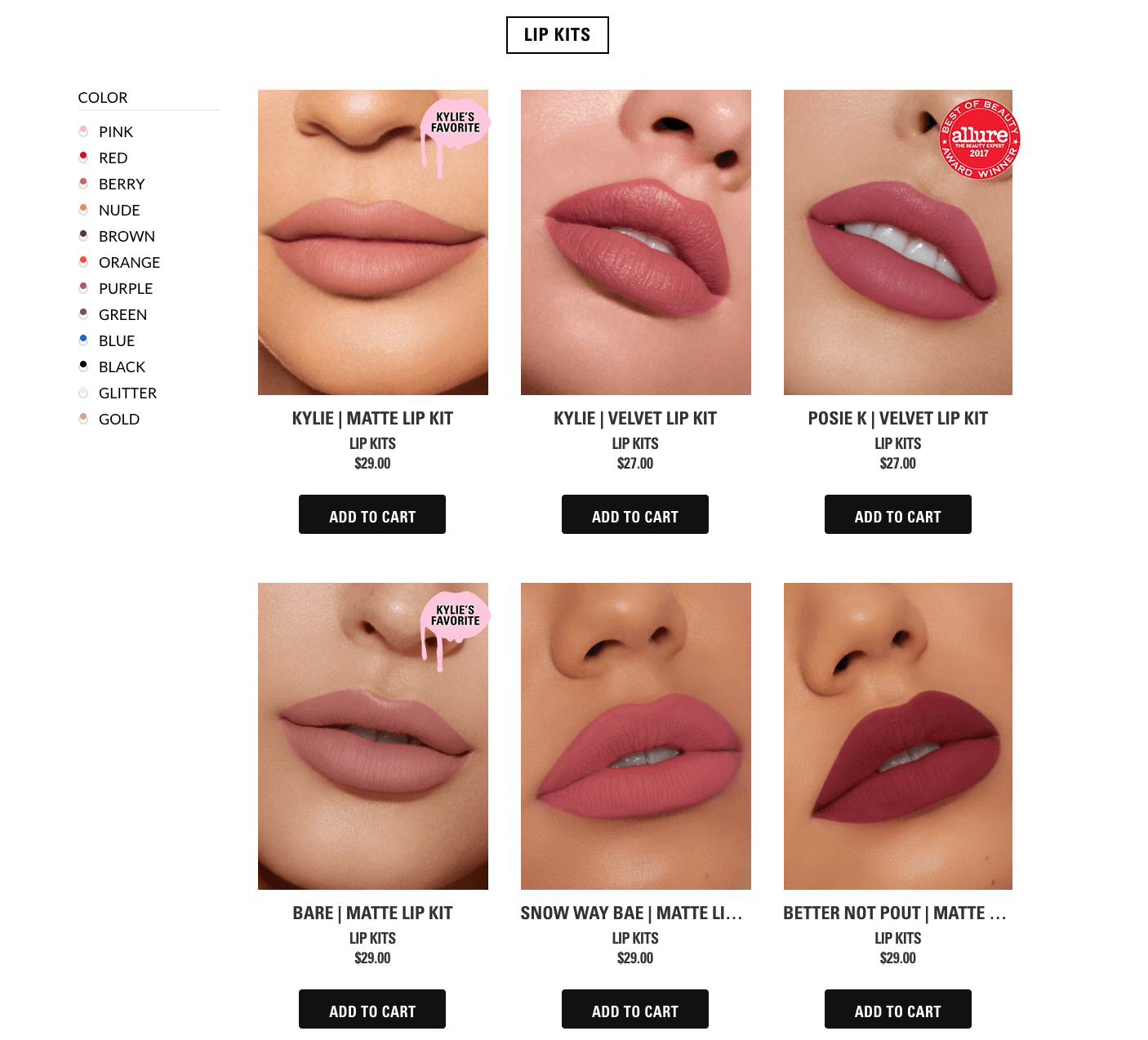 use high quality images in collection example kylie