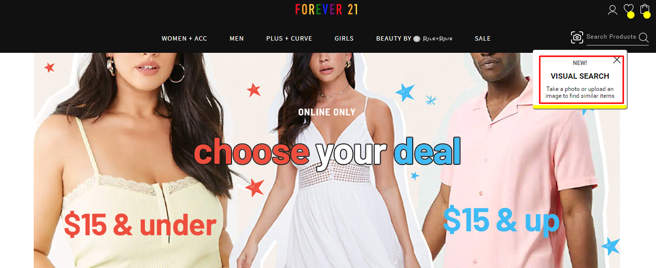 visual search forever 21