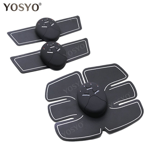 YOSYO EMS Muscle Stimulator Abdominal Machine Electric ABS Wireless Trainer Fitness Weight Loss Body Slimming Massage Retail box