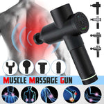 Professional Fascia Guns Muscle Relaxation Massager Gym High Frequency Vibration Percussion Massage 4 massage heads