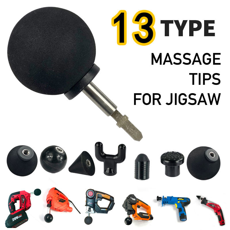 Massage head collection Replaceable percussion instrument deep massage gun puzzle tip set body muscle massager for Milwaukee M18