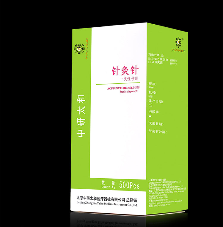 taihe sterilze 500 pcs/pack disposable acupuncture needles massage practice needle with tube wholesale free shipping