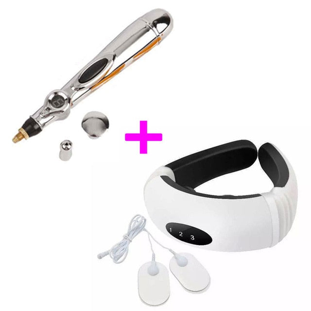 Electronic Acupuncture Pen Electric Meridians Laser Therapy Heal Pen acupuntura material Meridian Energy Relief Pain massager