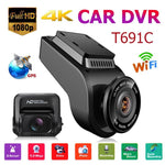 T691C 2 Inch 4K 2160P/1080P FHD Dashcam 170 Degree Lens Car DVR Camera Recorder Built-in GPS Dash Cam