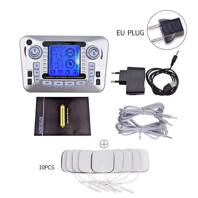Electrical Nerve Relax Muscle Stimulator Acupuncture Fat Burner Pain Relief Electronic Pulse Massager Tens EMS Slimming Machine