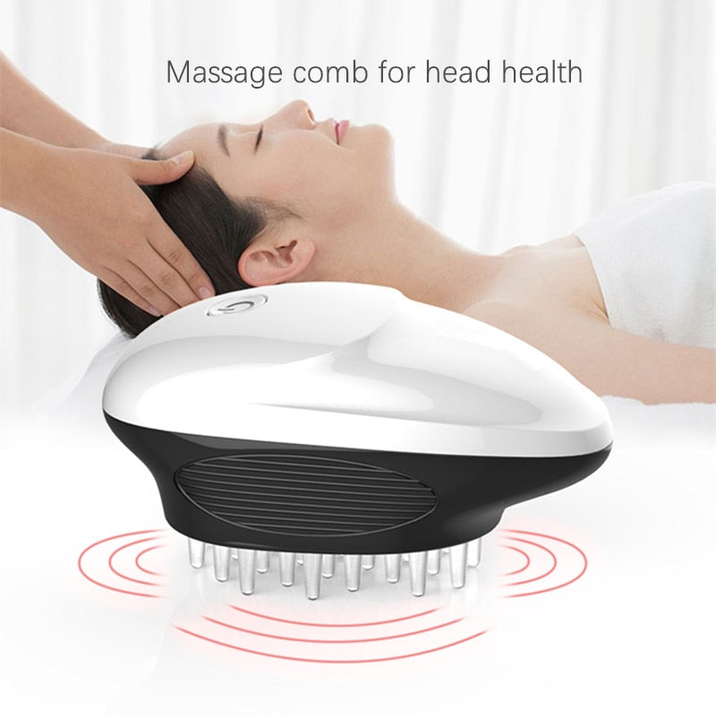 Electric Scalp Massager Portable Handheld Head Massager Scratcher for Stimulating Hair Growth Stress Release Full Body Massage