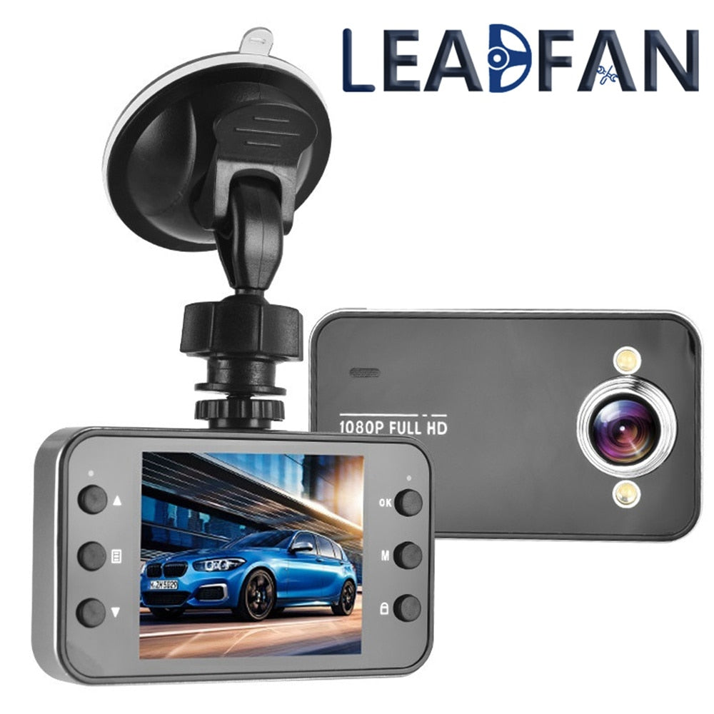 Leadfan 1080P Full HD Screen Car DVR Camera Night Vision Dashcam Driving Recorder Car Dashboard Camera Automobile Date Recorder