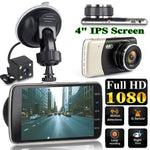 4 Inch Front And Rear Dual Lens Driving Recorder HD 1080P Car Vehicle DVR EDR Dashcam With G-Sensor Rearview Functions Dash Cam