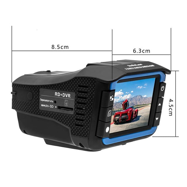 2 In 1 Anti Laser Car Radar Detector Dash Cam Car DVR Camera Recorder 140 Degree Dashcam HD 720P English And Russian Voice