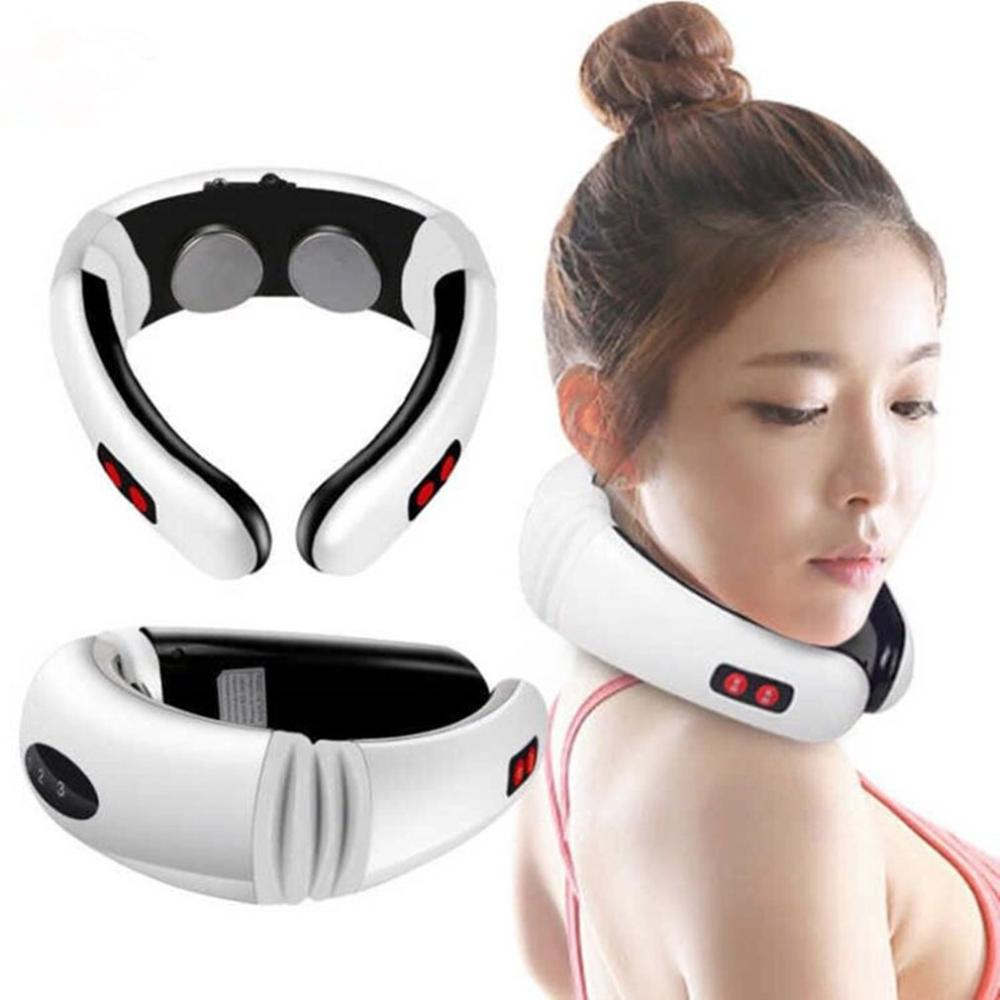 Cervical Neck Massager Electromagnetic Shock Pulse Cervical Sphygmotherapy Instrument Multifunction Neck Massage