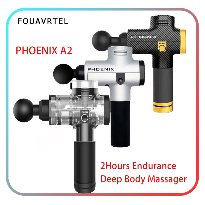 Phoenix A2 Massage Gun High Vibrating Body Massage Device Deep Muscle Massage Gun Therapy Muscle Relaxing Device Relief Pains